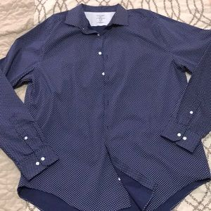 NWOT Stafford Navy Blue Button Down